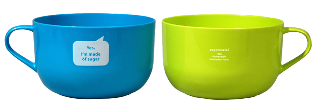 JUST SUGAR DUO-BOWL, set of 2 Blue-Green