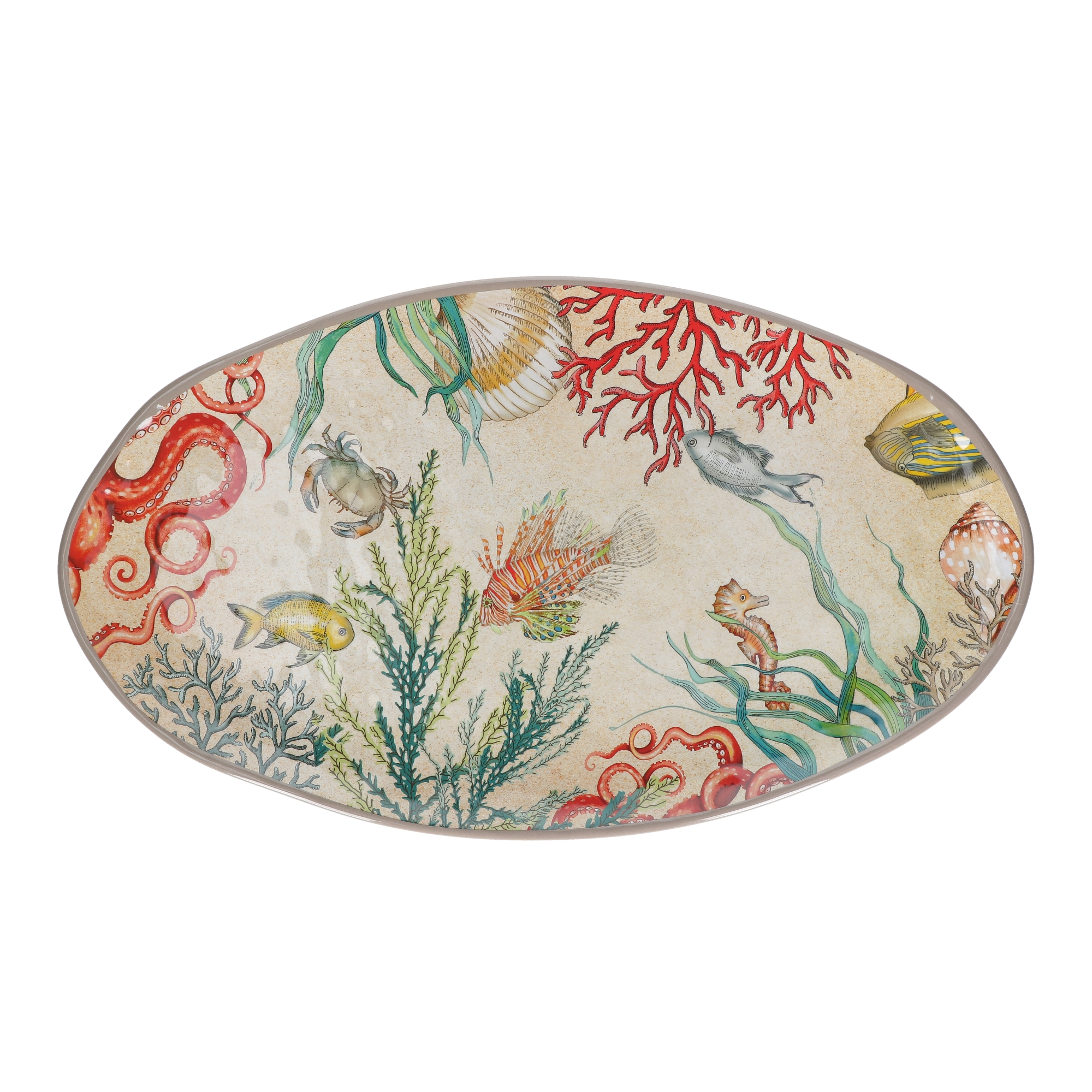 SEA LIFE Oval Platter 100% Melamine 52x30 cm in Gift Box