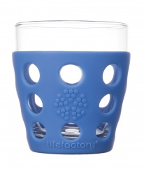 Lifefactory 10oz Beverage Glass - 2pk - Cobalt