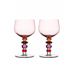 Spectra wine glass, 2-pack, pink/red