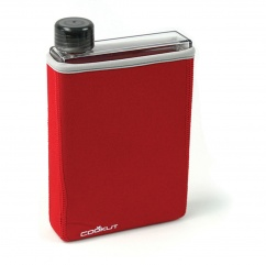 Manta 40cl - Flat isotherm bottle, red