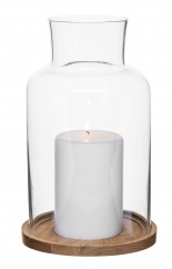 Oak candleholder, big