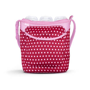 Bottle Buddy: Three Bottle Tote Baby Pink Mini Dots