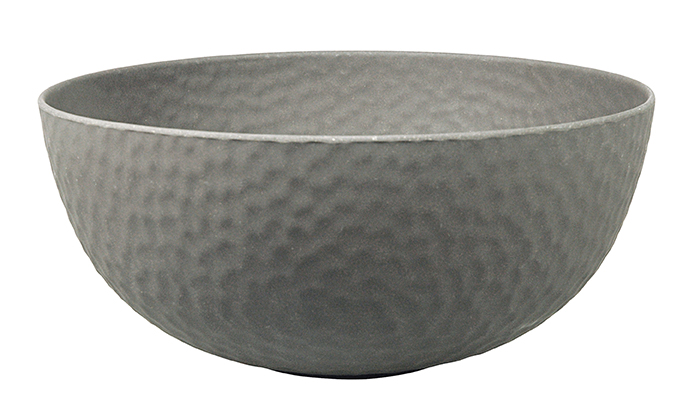 Large Bowl HAMMERED Grey