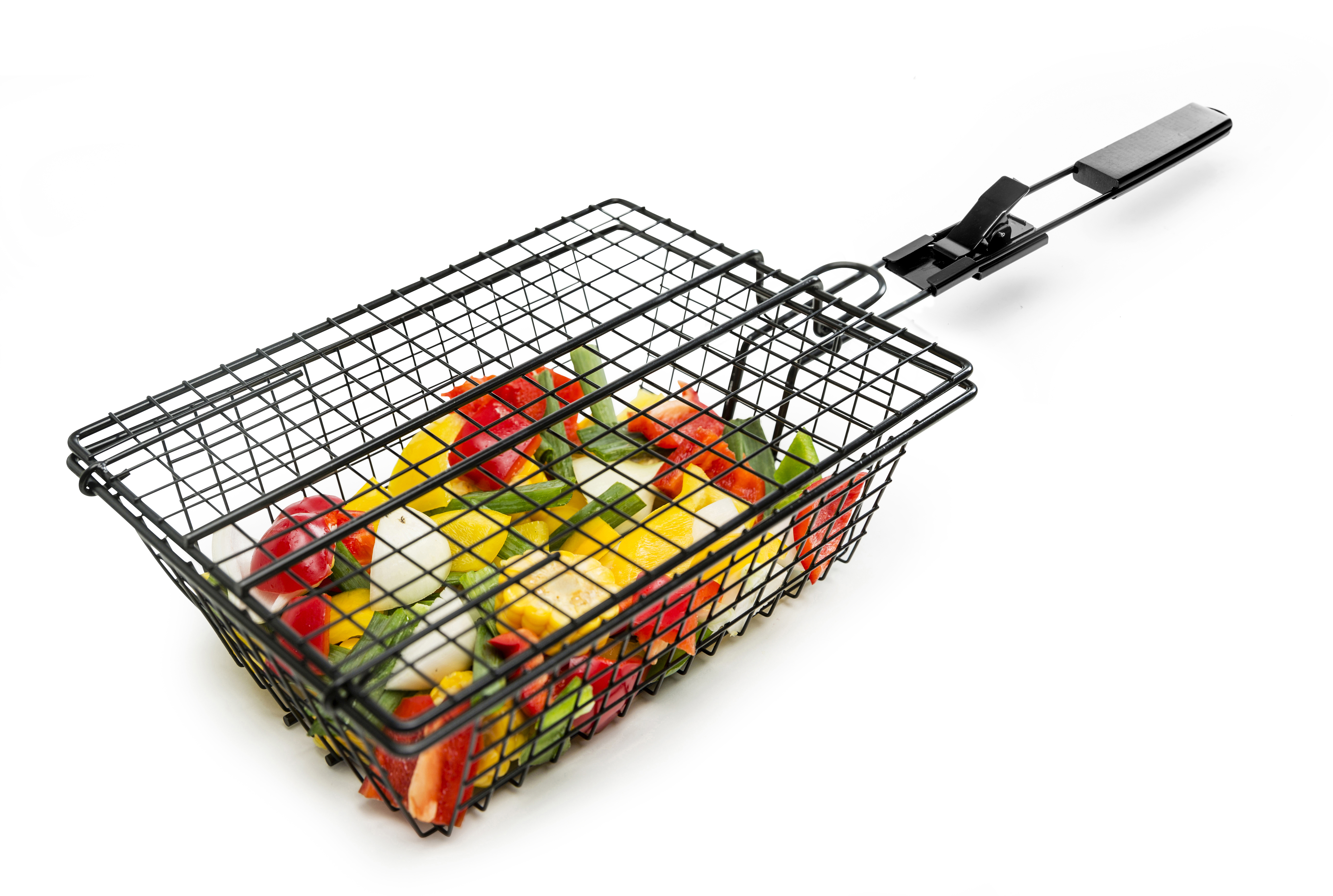BBQ Grill basket with black handle
