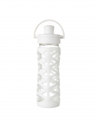 Lifefactory 16 oz Glass Bottle with Active Flip Cap - Optic White
