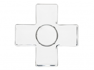 Cross Candle holder, clear