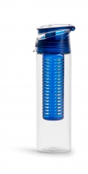 Fresh bottle with fruit piston blue