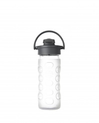 Lifefactory 12 oz Glass Bottle with Flip Cap - Clear