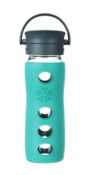 Lifefactory 16oz Glass Travel Mug with Cafe Cap - Lapis