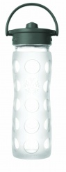 Lifefactory 16oz Glass Bottle with Straw Cap - Clear