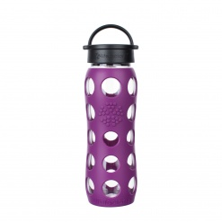 Lifefactory 22 oz Glass Bottle Core 2.0 - Plum