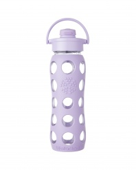 Lifefactory 22 oz Glass Bottle with Flip Cap - Lilac