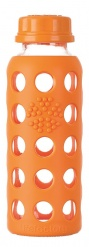 Lifefactory 9oz Glass Bottle with Flat Cap - Orange