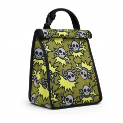 Boy's Lunch Sack  Skeleton Army - Olive