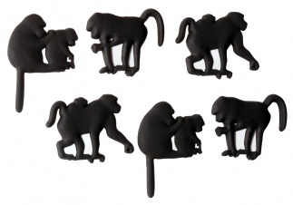 MONKEY MAGNET set of 6 Black*