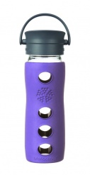 Lifefactory 16oz Glass Travel Mug with Cafe Cap - Violet