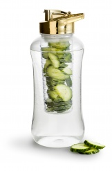 Fresh bottle large with fruit piston, gold