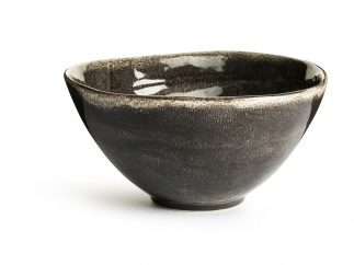 Nature serving bowl large, grey