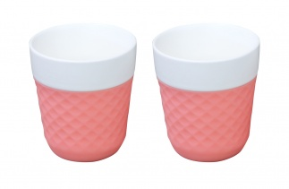 Lola 2 porcelaine tea cups - pink