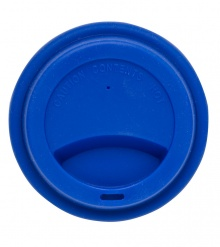 Silicone lid take away blue