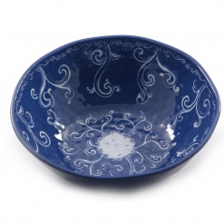Blue Salad Bowl 100% Melamine - 36Cm