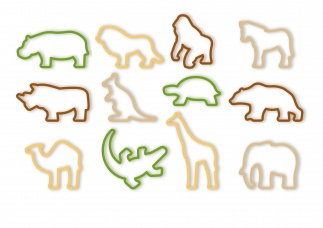 Cookie Cutters, 12 Pcs Zoo Delicia Kids