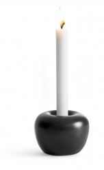"""Apple"" Candleholder Medium Black"