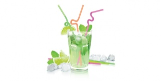 Drinking Straws Long Hinge, 40 Pcs Mydrink