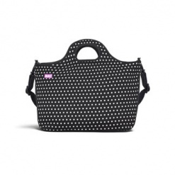 Duffle Tote - Small Mini Dot Black & White