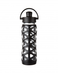Lifefactory 22 oz Glass Bottle with Active Flip Cap - Onyx