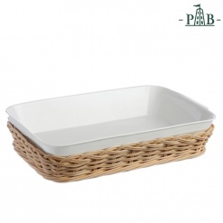 WICKER FOR RECT.BAKING DISH CM31X19(#)