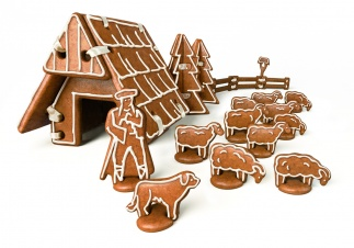 Gingerbread Chalet, Set Of Cookie Cutters Delicia
