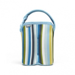 Bottle Buddy: Two Bottle Tote Baby Blue Stripe