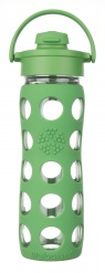 Lifefactory 16oz Glass Bottle with Flip Cap - Grass Green