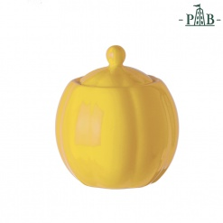VILLADEIFIORI SUGAR BOWL W/LCC300 YELLOW