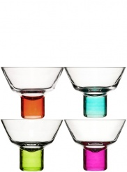 Club martini glasses, 4-pack
