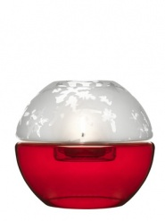 Shine tealight holder, small, red/white