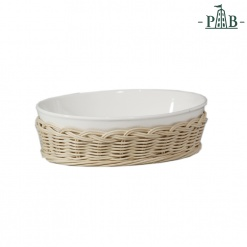 WICKER FOR OVAL BAK.DISH cm 15x10,5x5,5