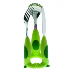 PUPPY CUTLERY GREEN