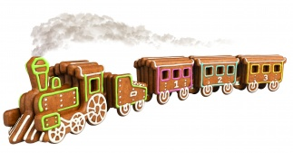 Gingerbread Train Del