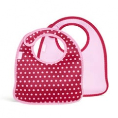 Mess Mate: Infant Bib (Set of 2) Baby Pink Mini Dots