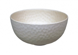 Medium Bowl HAMMERED WH