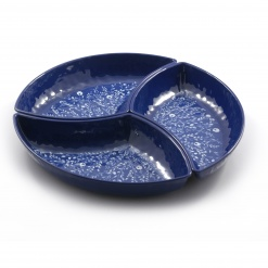 Blue Chip&Dip (3 Parts) 100% Melamine - Diameter 40Cm