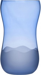 Aqua Wave vase large, blue