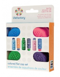 Lifefactory Flat Caps for 4oz and 9oz Bottles - Assorted