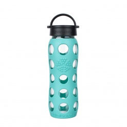 Lifefactory 22 oz Glass Bottle Core 2.0 - Sea Green