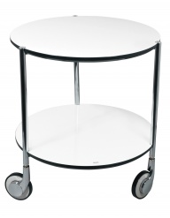 COCKTAIL TROLLEY WHITE