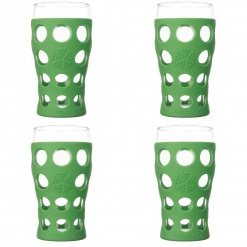 Lifefactory 20oz Beverage Glass - 4pk - Grass Green
