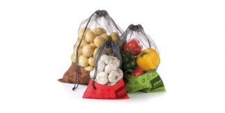 Net bags for food 4FOOD, set 3 pcs